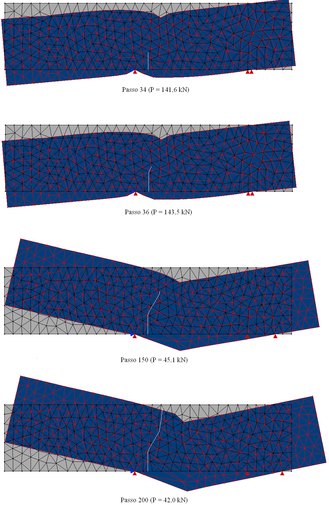 Simulation of nucleation and cracks propagation by GFEM